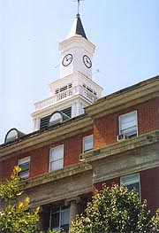 [photo, City Hall clock tower, 1 East Franklin St. Hagerstown, Maryland]