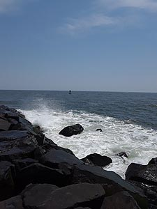 [photo, Atlantic Ocean, from Ocean City inlet jetty (Worcester County), Maryland]