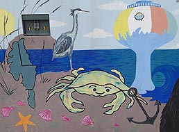 [photo, Public Art Project on utility box, Caroline St. & Baltimore Ave., Ocean City, Maryland]