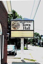 [Town Hall sign, Sharptown, Maryland]