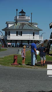 [photo, Hooper Strait Lighthouse at Chesapeake Bay Maritime Museum, St. Michaels, Maryland]