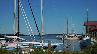 [photo, Sailboats and motorboats, St. Michaels, Maryland]