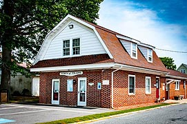 [photo, Town Hall, 4011 Powell Ave., Trappe, Maryland]