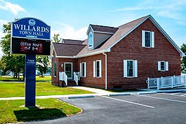 [Town Hall, 7344 Main St., Willards, Maryland]