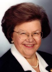 [photo, Barbara A. Mikulski, U.S. Senator (Maryland)]