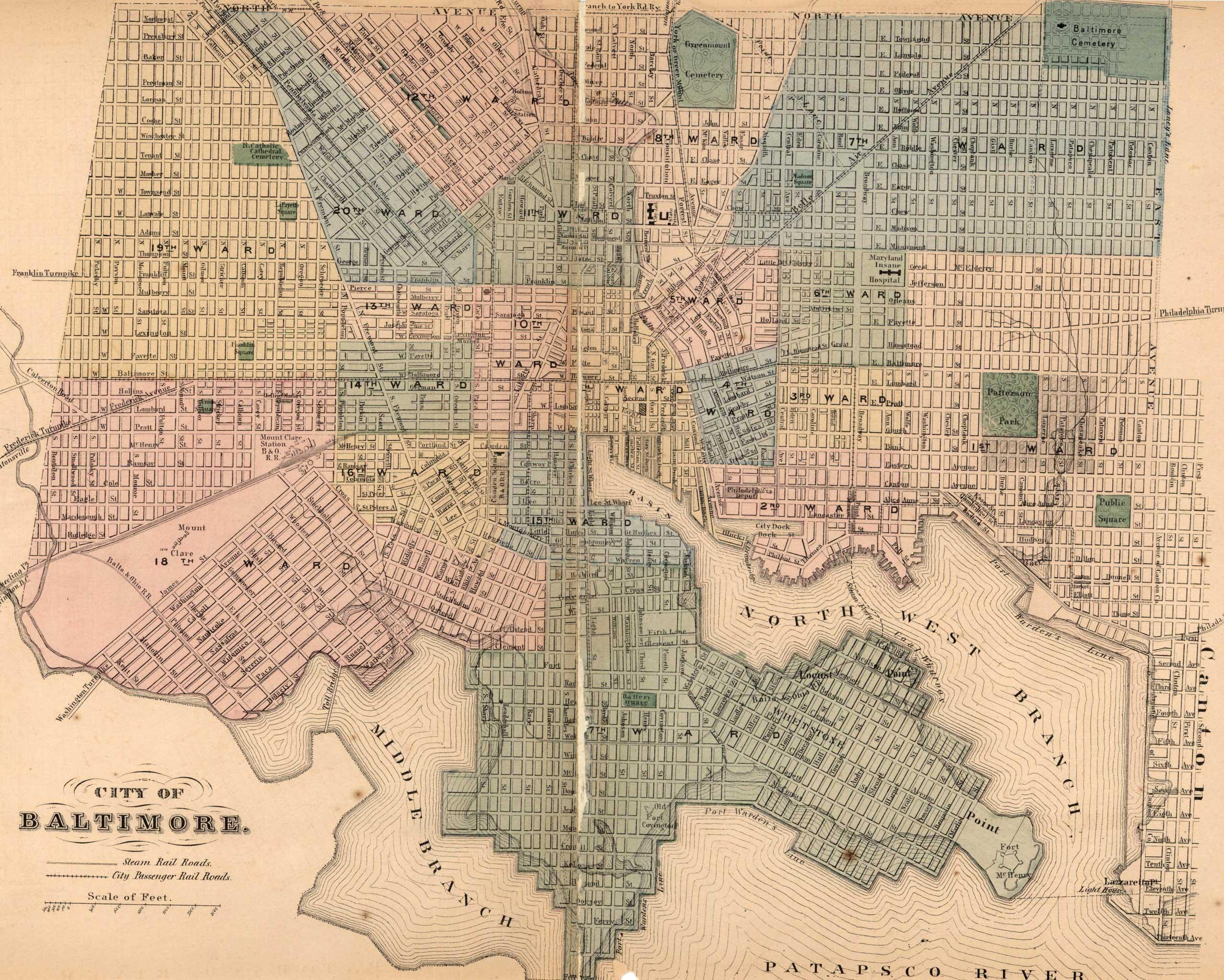 baltimore city  simon j  martenet  martenet u0026 39 s atlas of