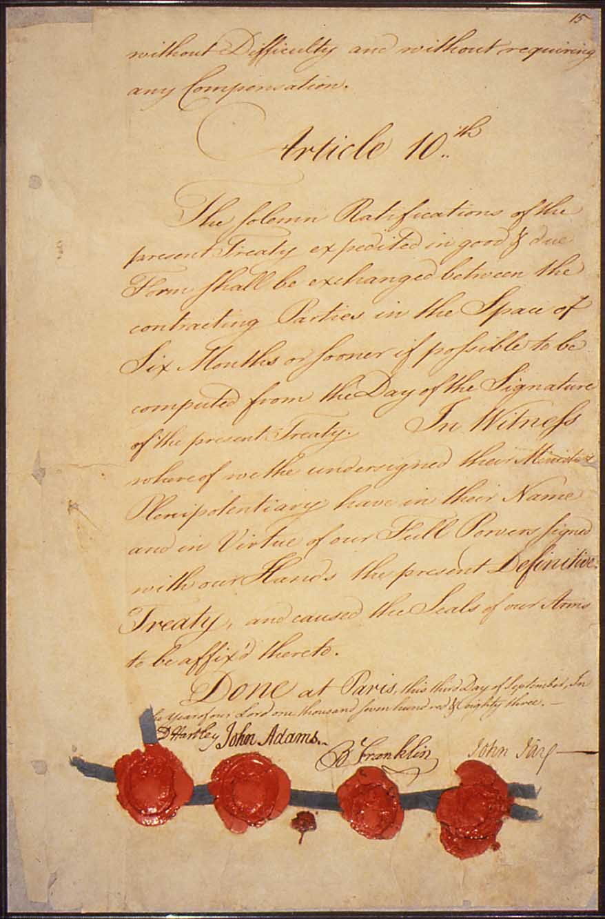 an introduction to the treaty of paris in the united states in the year 1763 From the signing of the treaty of paris in 1763 to the signing of the treaty of paris ending the seven year the constitutions of the united states.