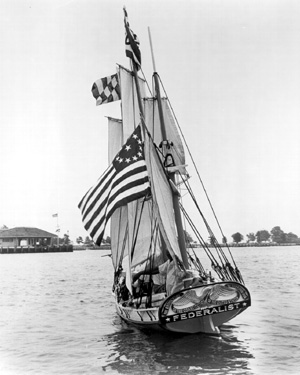 Photograph of stern of Federalist