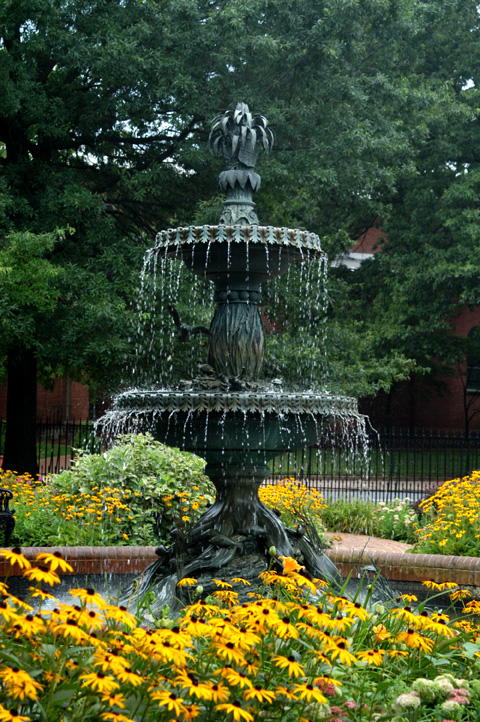 Photograph of Fountain at Government House
