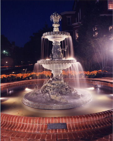 Fountain at Government House at Night